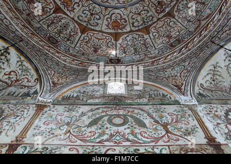 Detail of ceiling decoration, Et'hem Bey Mosque, Rruga Ludovik Shllaku, Tirana, Albania, Balkans, Europe - Stock Photo