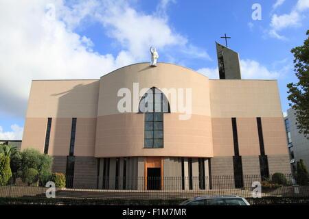 St Paul's Roman Catholic Cathedral, Bulevardi Zhan D'Ark, Tirana, Albania, Balkans, Europe - Stock Photo