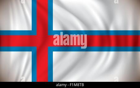 Flag of Faroe Islands - vector illustration - Stock Photo