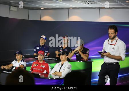 Marcus Ericsson – Sauber F1 Team, Felipe Massa – Williams Martini Racing, Daniel Ricciardo - Infiniti - Stock Photo