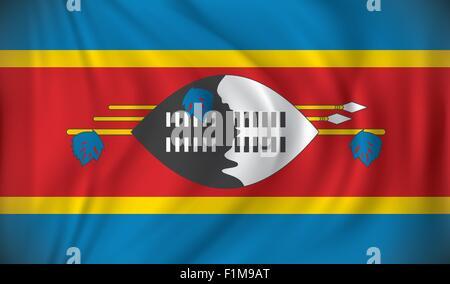 Flag of Swaziland - vector illustration - Stock Photo