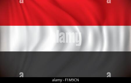 Flag of Yemen - vector illustration - Stock Photo