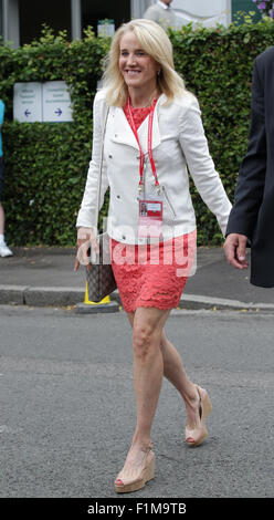 LONDON, UK, 12th July 2015: Tracy Austin seen at Wimbledon Championships 2015 - Stock Photo