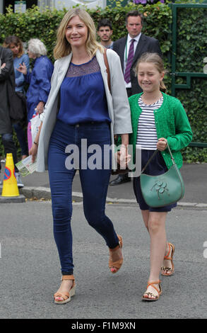 LONDON, UK, 12th July 2015: Lisa Faulkner seen at Wimbledon Championships 2015 - Stock Photo