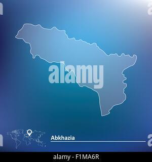 Map of Abkhazia - vector illustration - Stock Photo