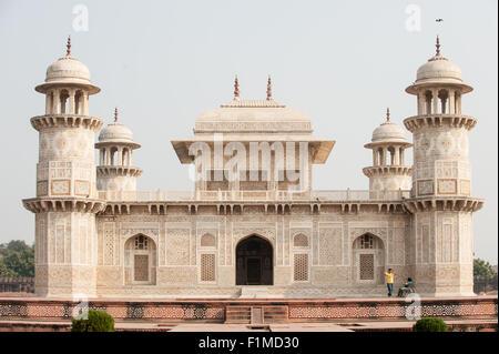 Agra, Utar Pradesh, India. Baby Taj. Breathtaking architecture with finely detailed parchin kari semi-precious stone - Stock Photo
