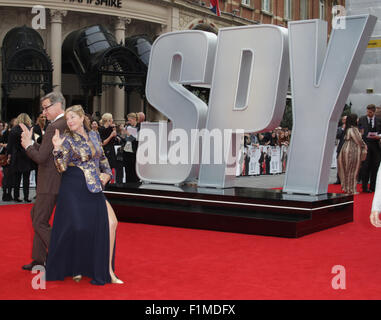 London, UK, 27th May 2015: Director and writer Paul Feig attends The European premiere of 'SPY' at the Odeon Cinema, - Stock Photo