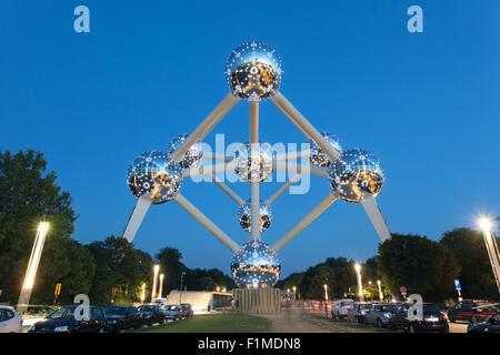 The Atomium in Brussels, Belgium - Stock Photo