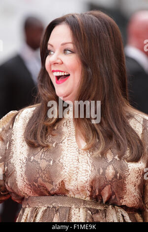 London, UK, 27th May 2015: Melissa Mccarthy attends The European premiere of 'SPY' at the Odeon Cinema, Leiceste - Stock Photo