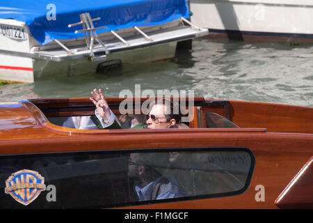 Venice, Italy. 04th Sep, 2015. Actor Johnny Depp arrives by boat at the 72nd Venice Film Festival, Friday September - Stock Photo