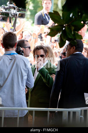 Venice, Italy. 04th Sep, 2015. Actor Johnny Depp arrives at the 72nd Venice Film Festival, Friday September 4th - Stock Photo