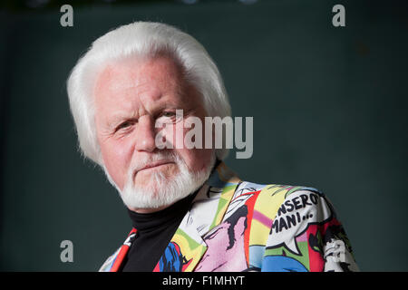 Ronnie Browne, the Scottish folk musician and founding member of The Corries, at the Edinburgh International Book - Stock Photo