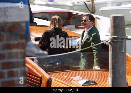 VENICE, ITALY, 4th Sep, 2015. Actor Johnny Depp arrives at 72nd Venice Film Festival for  'Black Mass' press conference - Stock Photo