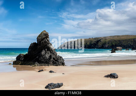 The beach at Sango Bay, Durness, in north west Scotland - Stock Photo