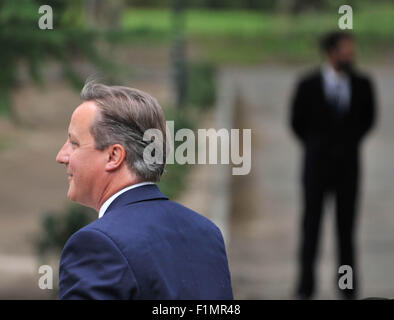 Madrid, Spain. 4th Sep, 2015. British Prime Minister David Cameron arrives in Madrid, Spain, on Sept. 4, 2015. Credit:  Xie Haining/Xinhua/Alamy Live News