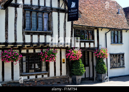 The Swan Hotel and Spa, High Street, Lavenham, Suffolk, UK - Stock Photo