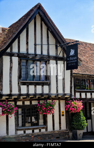 The Swan Hotel and Spa, Lavenham, Suffolk, UK - Stock Photo