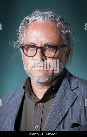 Gabriel Orozco, the Mexican artist, at the Edinburgh International Book Festival 2015. Edinburgh, Scotland. 17th - Stock Photo