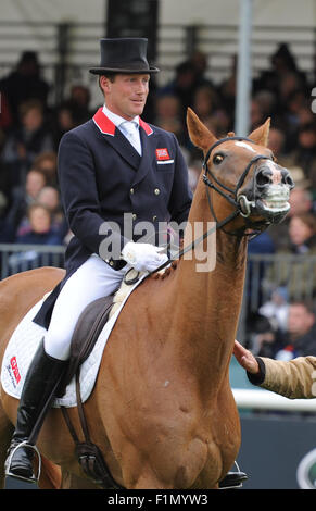 Stamford, UK. 4th September, 2015. Land Rover Burghley Horse Trials 2015, Stamford England. Oliver Townend (GBR) - Stock Photo