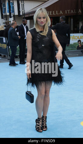 London, UK, 9th June 2015: Kimberly Wyatt attends Entourage - European film premiere in Leicester Square, London - Stock Photo