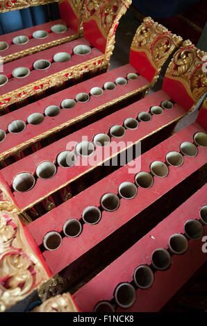 Balinese traditional music instrument in the making. - Stock Photo