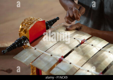 Balinese gamelan in the making. - Stock Photo