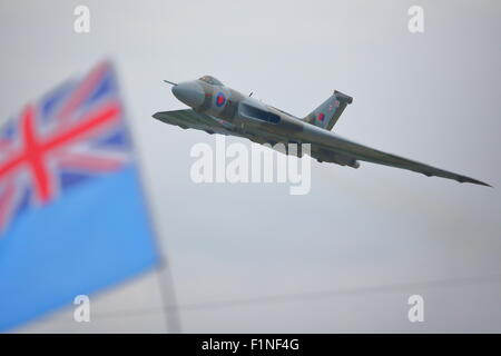 One of the last appearances of the Vulcan at Dunsfold Wings and Wheels - Stock Photo