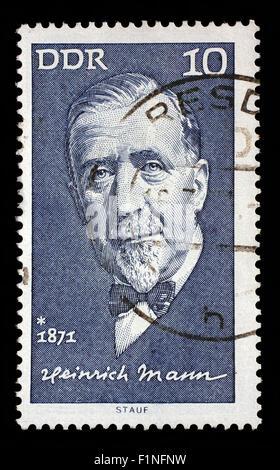 Stamp printed in GDR shows Heinrich Mann(1871-1950), writer, circa 1971 - Stock Photo