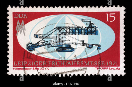 Stamp printed in GDR shows Leipzig Fair, circa 1971 - Stock Photo