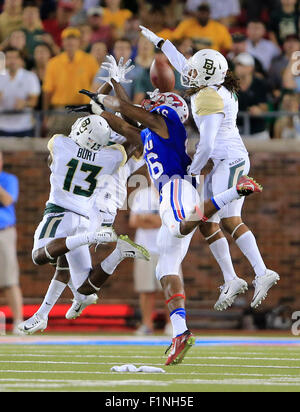 Dallas, TX, USA. 4th Sep, 2015.   during the NCAA football game between the Baylor Bears and the SMU Mustangs at - Stock Photo