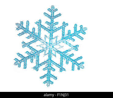 Snowflake with a white background - Stock Photo