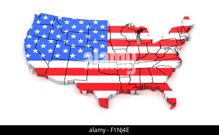 USA Map With States And Borders USA Flag Inside Stock Vector Art - Clipart us map border security
