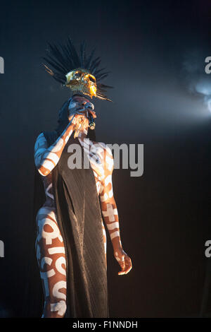 Ireland. 4th September, 2015. Former bond villain and model turned musician Grace Jones performing on stage at Ireland's - Stock Photo