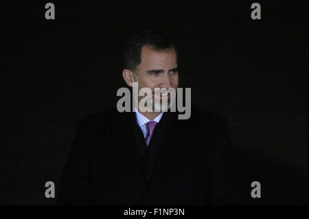 DECEMBER 1, 2014 - BERLIN: Spanish King Felipe VI before a meeting with the German Chancellor in the Chanclery in - Stock Photo