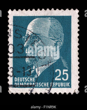 Stamp printed in GDR shows Chairman Walter Ulbricht, circa 1961 - Stock Photo