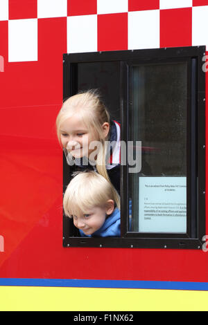 September 5 2015 -charity Open Day at Islington Fire Station, London, United Kingdom Credit:  Finn Nocher/Alamy - Stock Photo