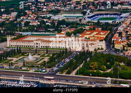 Portugal, Lisbon, mosteiro dos Jeronimos, Jeronimos monastery - Stock Photo