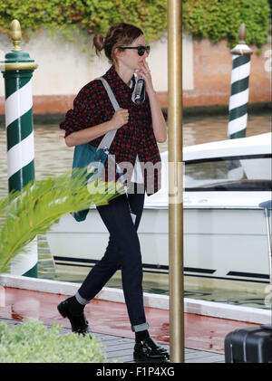 Venice, Italy. 5th September, 2015. Alba Rohrwacher sightings at Excelsior Hotel during the 72nd Venice Film Festival - Stock Photo