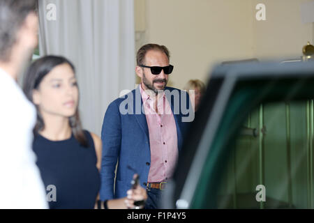 Venice, Italy. 5th September, 2015. Ralph Fiennes sightings at Excelsior Hotel during the 72nd Venice Film Festival - Stock Photo