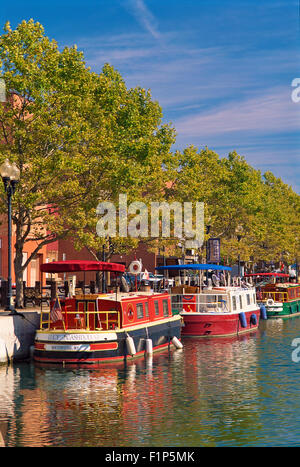 Canal Boats, Seneca Falls, New York, USA - Stock Photo