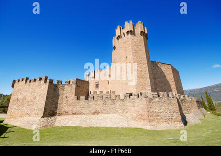 Scenic view of the famous Javier castle in Navarra, Spain. - Stock Photo