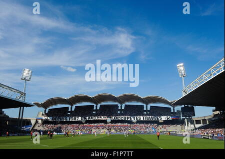 Stade Gerland - 22.08.2015 - Lyon/Rennes - 3eme journee de Ligue 1.Photo : Jean Paul Thomas/Icon Sport - Stock Photo
