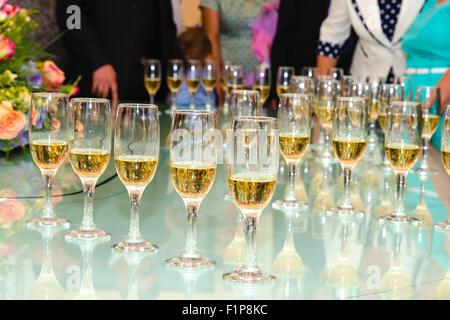 Champagne in glasses - Stock Photo