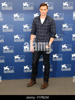 Venice, Italy. 5th September, 2015.  Nicholas Hoult poses at a photocall for the movie Equals during the 72th annual - Stock Photo