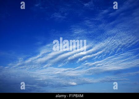 Interesting Clouds Formation on Blue Sky. California USA. Weather Photography Collection - Stock Photo