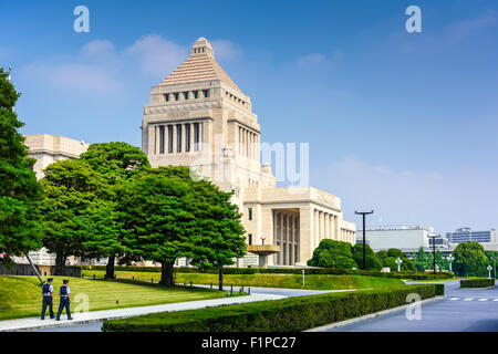 TOKYO, JAPAN - JULY 31 2015: The National Diet Building of Japan. - Stock Photo