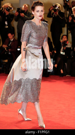 Venice, Italy. 5th Sep, 2015. Actress Kristen Stewart attends the premiere of the film 'Equals' during the 72nd - Stock Photo