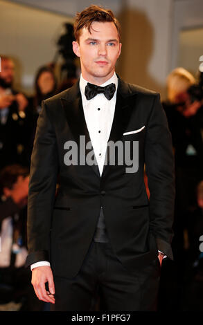 Venice, Italy. 5th Sep, 2015. Actor Nicholas Hoult attends the premiere of the film 'Equals' during the 72nd Venice - Stock Photo