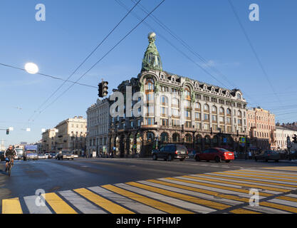 Singer House, Nevsky Prospect, St. Petersburg, Russia. - Stock Photo