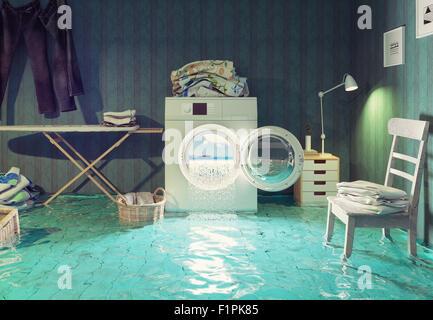 housework  dreams. 3d Creative concept. - Stock Photo